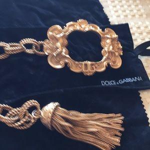Dolce & Gabbana gold vintage DG ornate buckle belt